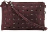 Neiman Marcus Grommet Crossbody Bag, Burgundy
