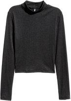 H&M Ribbed Top - Black - Ladies