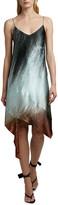 Off-White Off White Bouroullec Spiral Satin Slip Dress