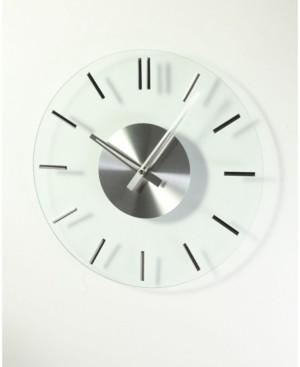 Stilnovo Mid Century Silver Glass Clock