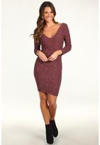 BCBGMAXAZRIA BCBGeneration - Seamless V-Neck Dress (Light Wine) - Apparel