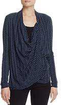 Three Dots Drape Stripe Cardigan