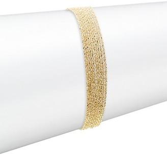 Celara 14K Yellow Gold Chain Line Bracelet