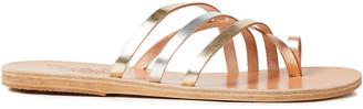 Ancient Greek Sandals Apli Amalia Metallic Leather Sandals