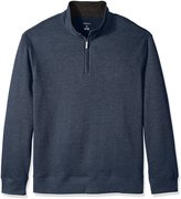 Van Heusen Men's Big and Tall Long Sleeve Spectator Solid 1/4 Zip Shirt