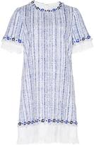 Andrew Gn Short Sleeve Tweed Mini Dress