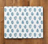 Pottery Barn Block Print Floral Cork Placemat