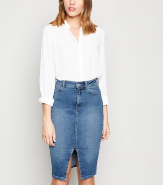 New Look 'Lift & Shape' Denim Pencil Skirt