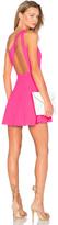 NBD X Naven Twins Zip Me Up One Shoulder Dress