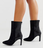 Asos Design DESIGN Wide Fit Eleanor high ankle boots in black