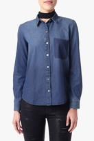 7 For All Mankind Shadow Pocket Denim Shirt In Shadow Sky