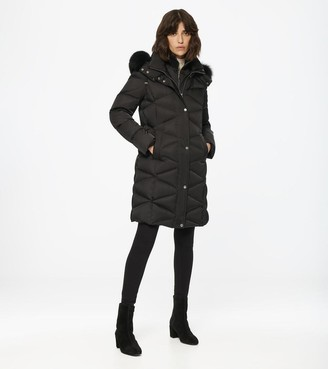 Andrew Marc Malabar Fitted Down Coat
