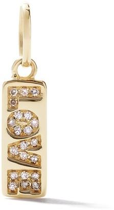 As 29 18kt yellow gold diamond mini Love tag pendant