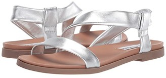 Steve Madden Dessie Flat Sandals (Silver Leather) Women's Sandals