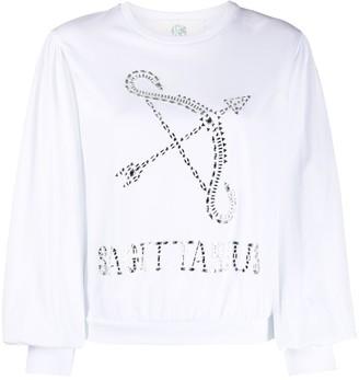 Alberta Ferretti Sagittarius crystal-embellished sweatshirt