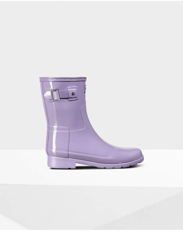 Hunter Womens Refined Slim Fit Short Gloss Rain Boot
