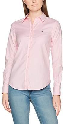 Gant Women's Stretch Oxford Solid Shirt, (Light Pink), (Size: 44)