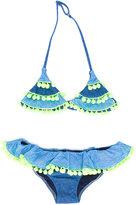 Mc2 Saint Barth Kids - Bonny Blug bikini set - kids - Polyamide/Spandex/Elastane - 8 yrs