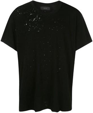 Amiri distressed effect T-shirt