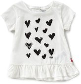 Levi's s Baby Girls 12-24 Months Heart-Print Peplum Tee