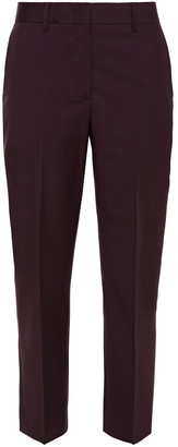Paul Smith Cropped Wool And Mohair-blend Slim-leg Pants