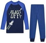 Joules Blue Blast Off Spaceship Glow-in-the-Dark Pyjamas