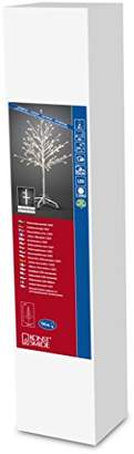 Konstsmide 3377-100 LED Decoration Tree 1m White/Outdoor or Indoor Use (IP44)/24V Transformer/96 Warm White Diodes/White Cable