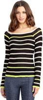 Rachel Roy Open Stripe Pullover