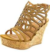Not Rated Ellice Open Toe Synthetic Wedge Sandal.