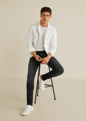MANGO Skinny dark grey wash Jude jeans