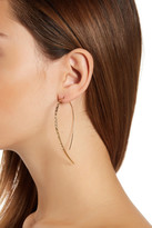 Lana 14K Yellow Gold Glam Hooked On Hoop Earrings