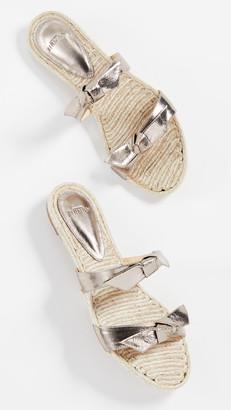 Alexandre Birman Clarita Braided Flat Sandals