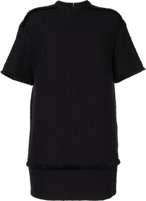 Proenza Schouler White Label Fringe-Detail Short-Sleeve Dress
