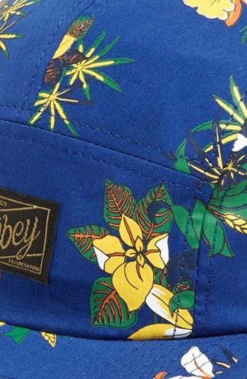 Obey Floral Print Five-Panel Cap