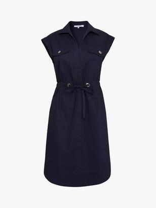 Gerard Darel Cotton Shirt Dress, Navy