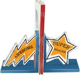 Young's 2-Piece Wood Superhero Bookend, 12-Inch