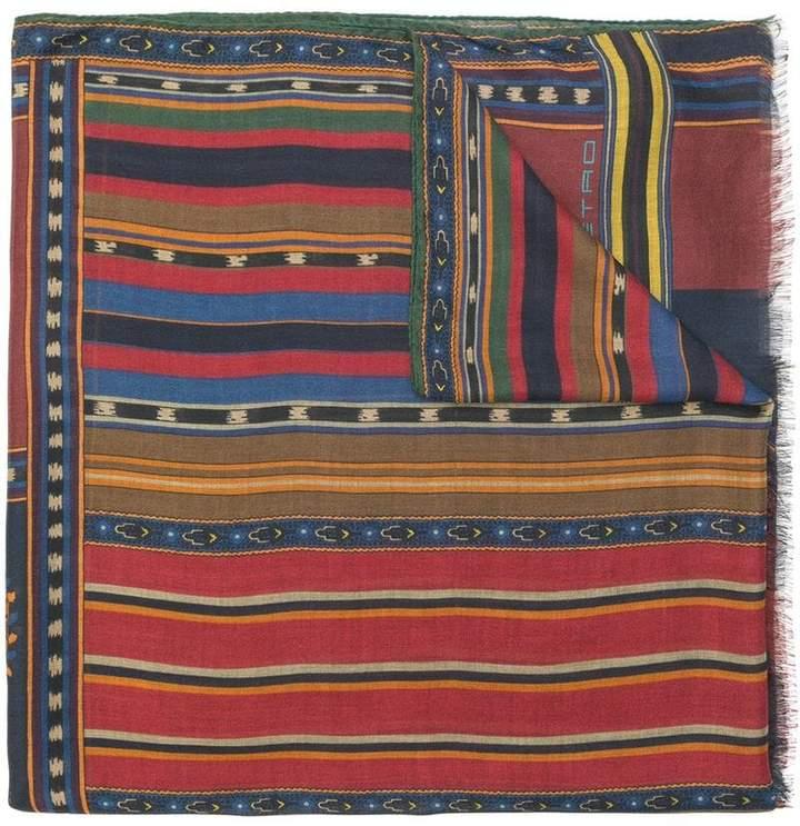 Etro tapestry stripe scarf