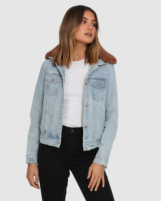 BY.DYLN - Women's Denim jacket - Tyler Denim Jacket - Size One Size, S at The Iconic
