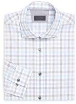 Pal Zileri Plaid Regular-Fit Dress Shirt