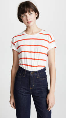 Madewell Whisper Stripe Crew Neck Tee