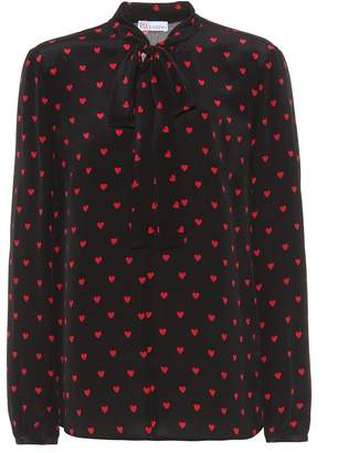RED Valentino Heart silk blouse