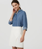 LOFT Shirred Chambray Tunic Softened Shirt