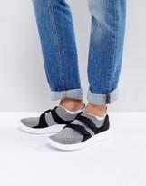 Nike Sock Racer Slip On Flyknit Sneakers In Black