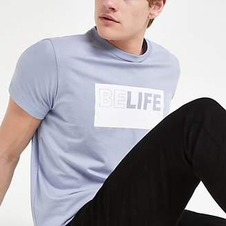 River Island Pepe Jeans blue 'Belife' T-shirt