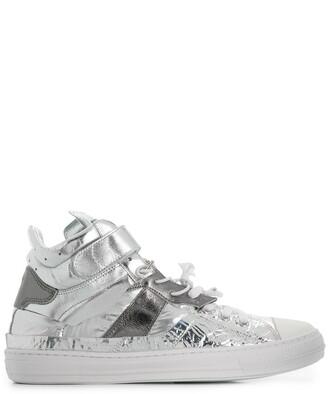 Maison Margiela Metallic Hi-Top Sneakers