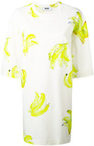 MSGM printed T-shirt dress - women - Cotton - S