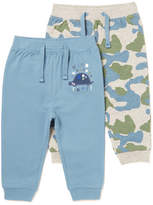 Tu clothing 2 Pack Blue and Camouflage Joggers