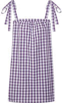 Three J NYC Stella Gingham Cotton-poplin Nightdress - Purple