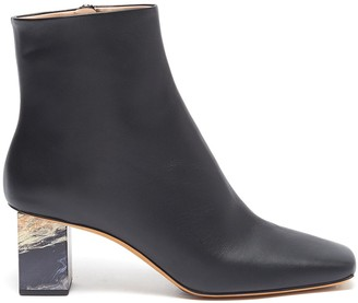 Gray Matters Marble heel leather ankle boots
