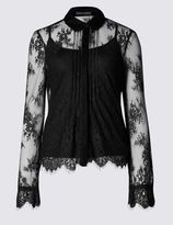 Marks and Spencer Lace Long Sleeve Shirt